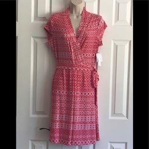 Liz Claiborne stretchy wrap dress